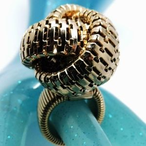 Jewelry - Statement Cocktail Ring Omega Snake Chain Knot